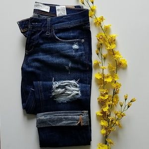 Abercrombie & Fitch crop denim jean